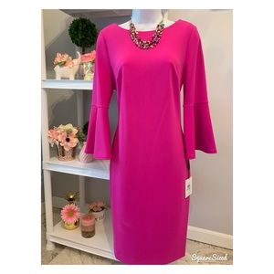 NWT Calvin Klein dress 8 with matching jewelry